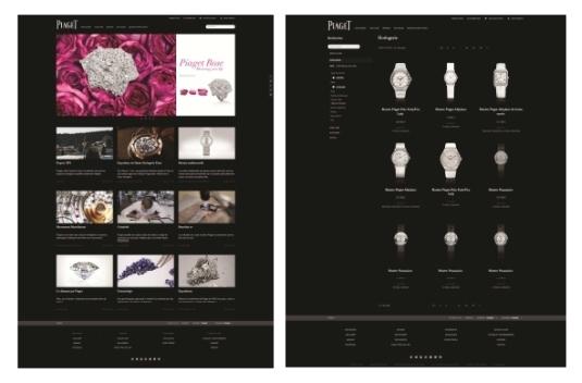 Piaget célèbre la rose sur son nouveau site de e-commerce Piaget.fr