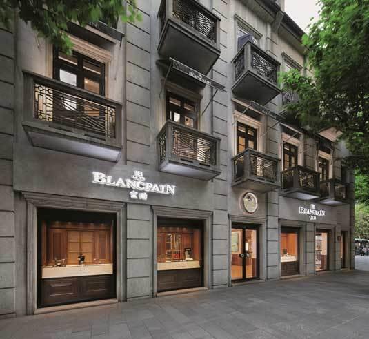 Blancpain : une troisième boutique à Shanghai et tout simplement la plus grande au monde