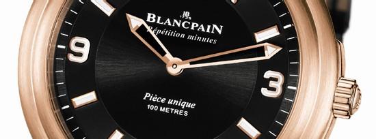 Léman Répétition Minutes Aqua Lung chez Blancpain