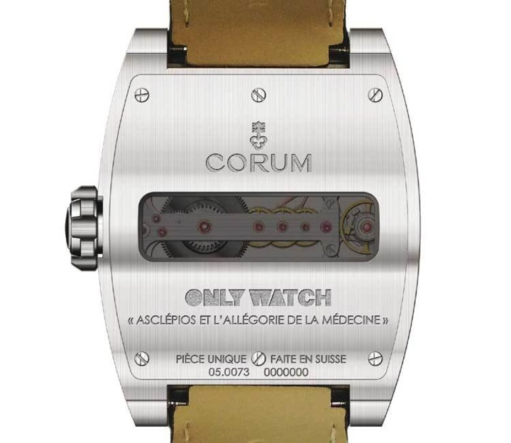 Corum Ti-Bridge Power Reserve Only Watch 2013, fond de boite