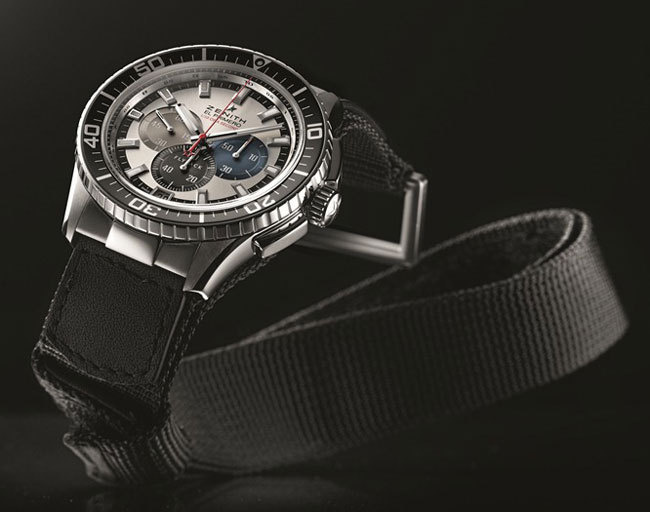 Zenith El Primero Stratos Flyback Striking 10th Tribute to Felix Baumgartner Only Watch 2013