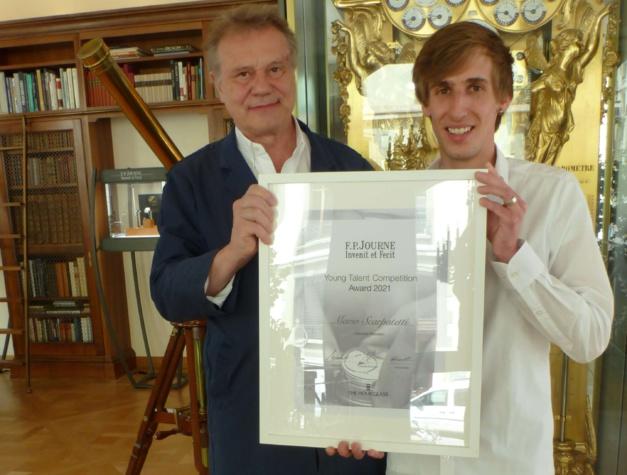 Young Talent Competition : remise du prix à Mario Scarpatetti à Genève