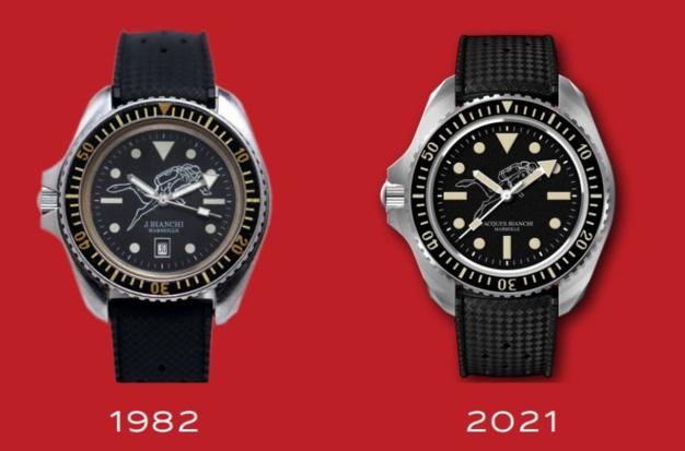 Jacques Bianchi JB200 : le plongeur et sa montre