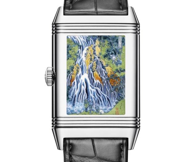 Jaeger-LeCoultre Reverso Tribute Enamel : hommage à Hokusai et sa Cascade de Kirifuri