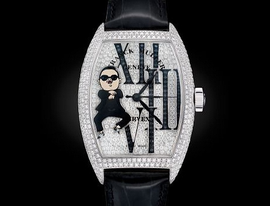 Psy reçoit sa montre Franck Muller : Gangnam Style…