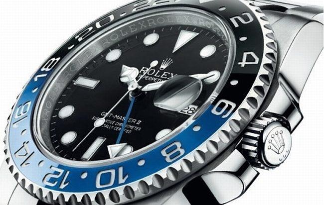Rolex GMT Master 2 bleu et noir dite Batman