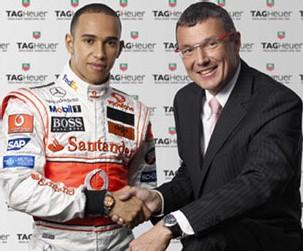 Lewis Hamilton et Jean-Christophe Babin