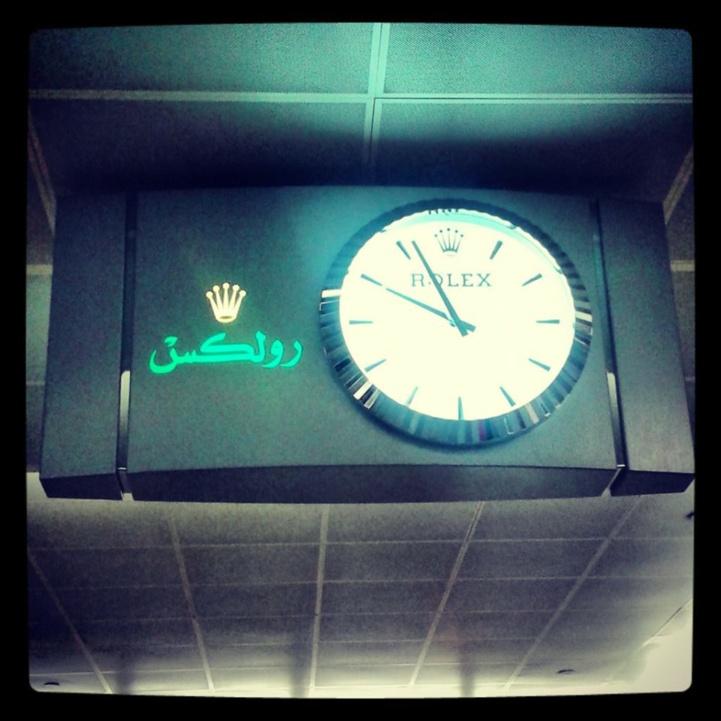 Horloge Rolex à l'aéroport de Dubaï