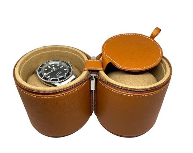 Kronokeeper : le tube de voyage en cuir pour deux montres