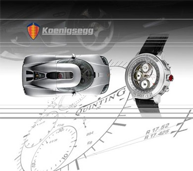Quinting conçoit des montres en partenariat avec le constructeur automobile suédois Koenigsegg