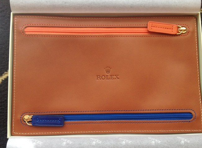 pochette de voyage en cuir Rolex