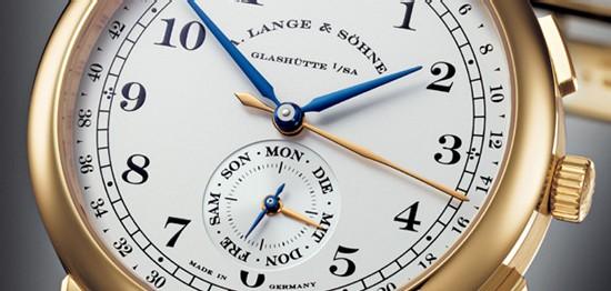 Avec la 1815 Kalenderwoche de Lange & Söhne, visualisez une année entière en un seul coup d'oeil