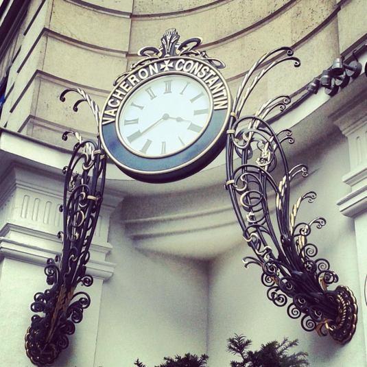 Horloge Vacheron Constantin, rue de la Paix à Paris