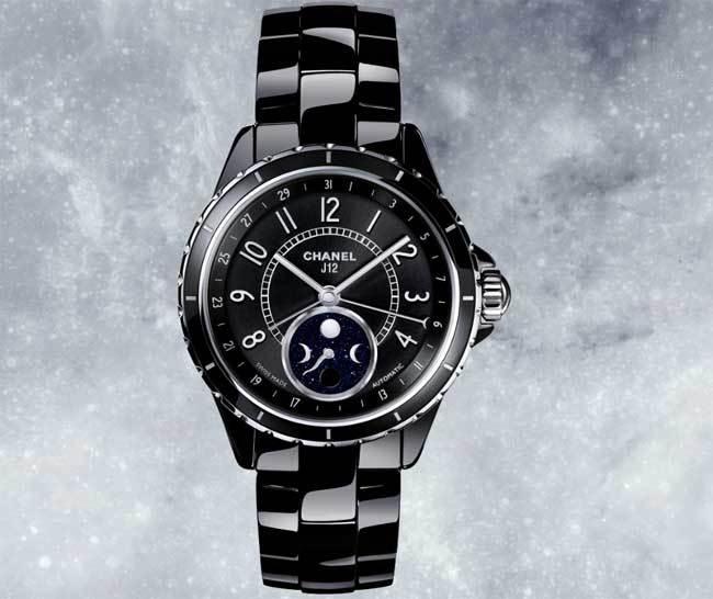 Chanel J12 Moonphase céramique noire