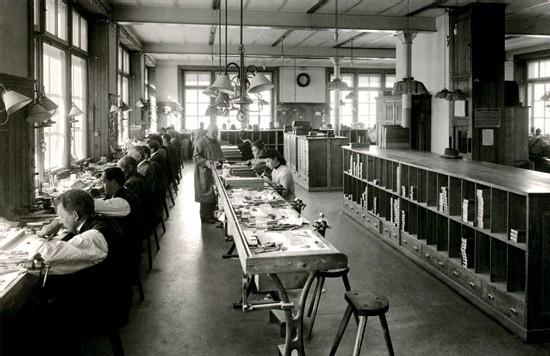 Atelier de réglage Longines (1911)