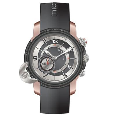 La Twins Chrono Titan de Michel Jordi : deux montres en une, habillée(s) de titane et d'or rouge