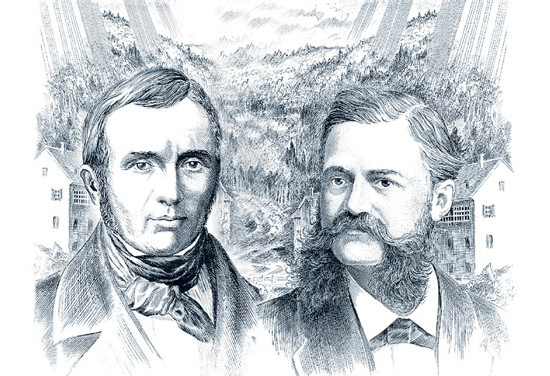 Auguste Agassiz et Ernest Francillon, les fondateurs de Longines