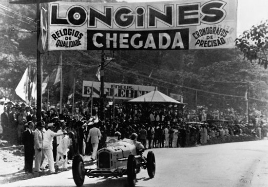 Chronométrage du Grand Prix du Brésil, 1933.