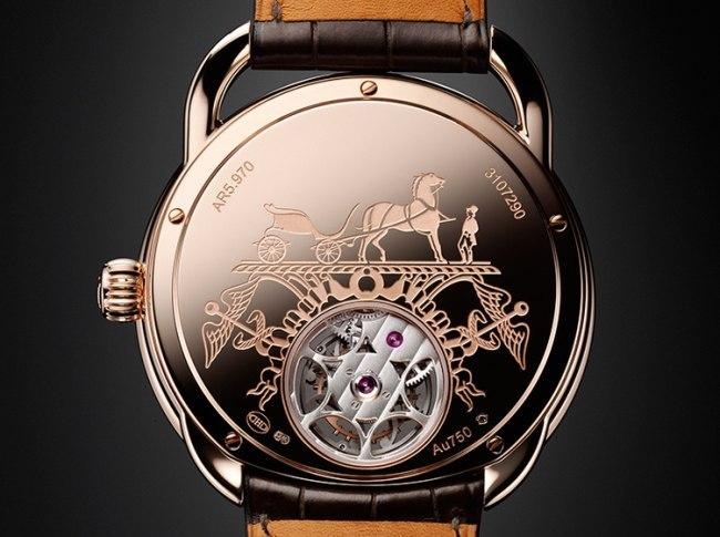 Hermès Arceau Lift Tourbillon volant dos du boitier