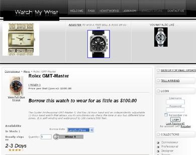 WatchMyWrist.com : pour louer une montre de luxe à la semaine