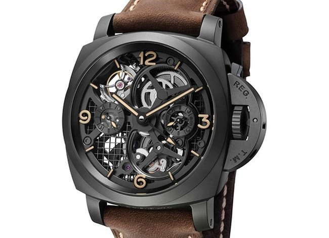 Panerai Lo Scienziato Luminor 1950 Tourbillon GMT Ceramica