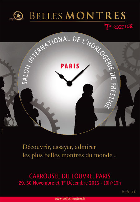 Belles Montres 2013 : du 29 au 1er décembre au Carrousel du Louvre à Paris