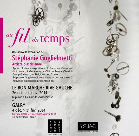 Au fil du temps : l'artiste Stéphanie Guglielmetti expose au Bon Marché Rive Gauche