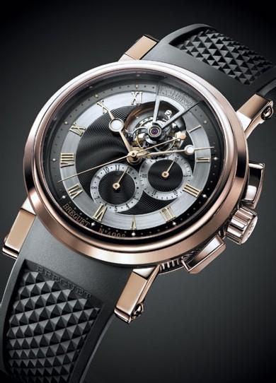 La Marine 5837 de Breguet accueille un tourbillon chronographe