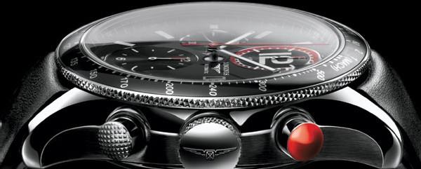 GrandeVitesse Longines Chronographe avec tachymètre sur la lunette
