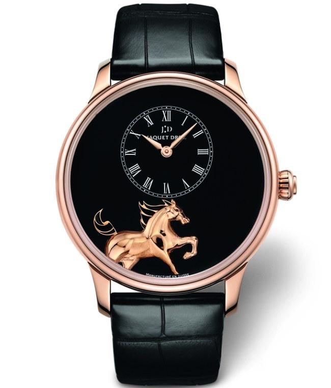 Jaquet Droz : trois nouveautés en hommage au cheval, animal du zodiaque chinois 2014