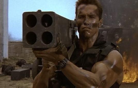 Commando, Arnold Schwarzenegger, DR