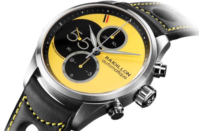 Raidillon : un nouveau chrono au cadran jaune vif arrive chez XP Joaillier à Paris