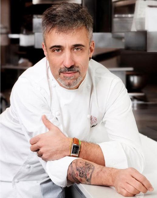 Sergi arola et son calibre 822 tatou sur le bras tattoo bon for Cuisinier bras