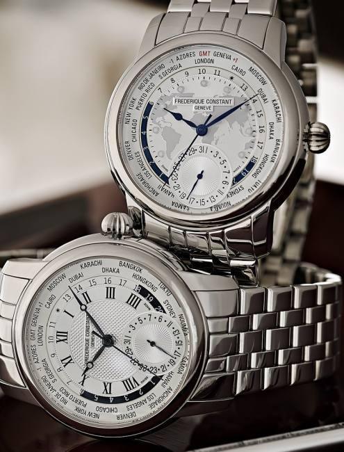 Frédérique Constant Classics Manufacture Worldtimer : sur bracelet acier en 2014