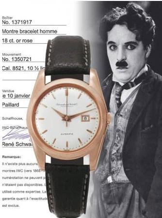 IWC de Charlie Chaplin (image Antiquorum)
