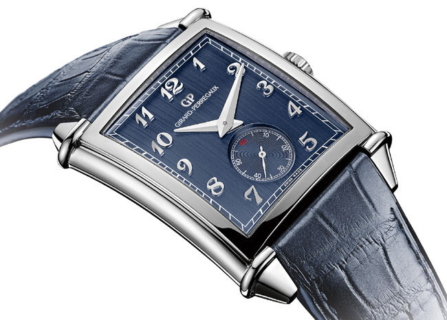 Girard-Perregaux Vintage 1945 XXL version acier cadran bleu