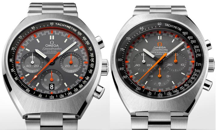 Speedmaster Mark II 2014 à gauche et 1969 à droite