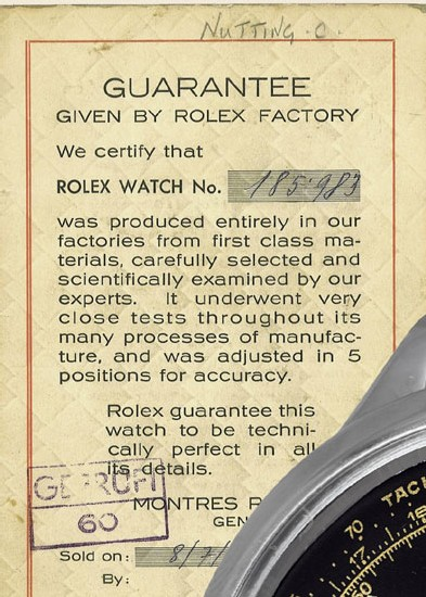 Rolex 3525 de Clive Nutting (image Antiquorum)