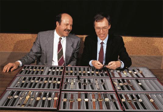Ulrich W. Herzog (à gauche) et le Dr Rolf Portmann