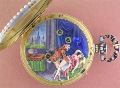 Montres érotiques au Musée d'horlogerie du Locle