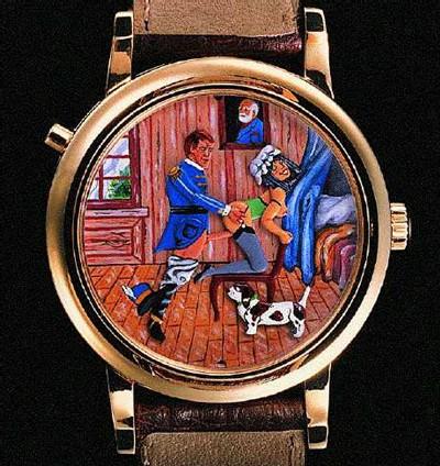 Dos d'une montre érotique de chez Svend Andersen