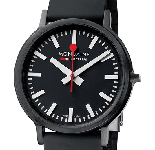 Mondaine Stop2Go : version full black