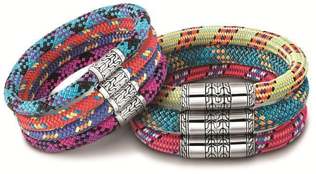 Bracelets John Hardy, boucle argent et cordage de bateau