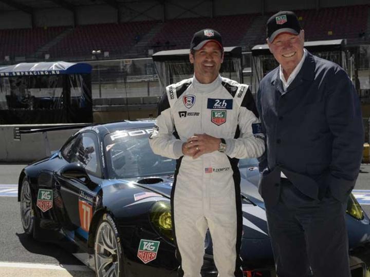 Patrick Dempsey et Jean-Claude Biver au Mans
