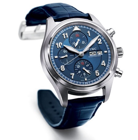 IWC montre d'aviateur chrono-automatic édition Fondation Laureus