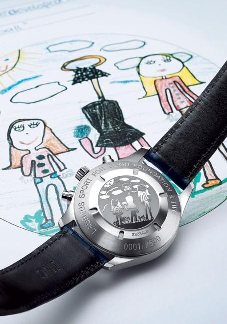 IWC montre d'aviateur chrono-automatic édition Fondation Laureus