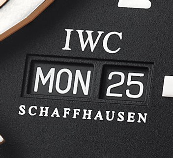 Montre aviateur IWC Chrono-Automatic en or rose