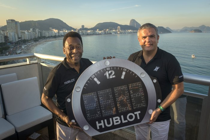 Pelé et Ricardo Guadalupe à Rio de Janeiro