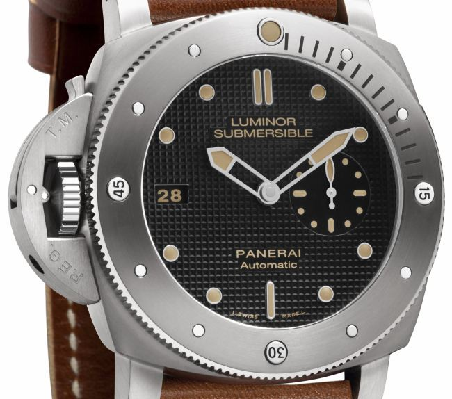 Panerai Luminor Submersible 1950 Left-handed titane 47 mm : mille exemplaires