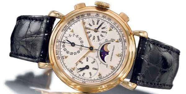 Audemars Piguet avec calendrier à triple date, phases et âge de lune. Boîte en or jaune 18 carats. Fabriquée en 1948. CHF 210'600